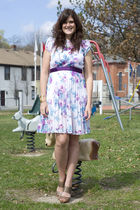 purple Beacons closet dress - brown TJ Maxx shoes