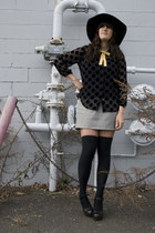 madewell blouse - JCrew skirt - cynthia rowley hat - Jessica Simpson shoes