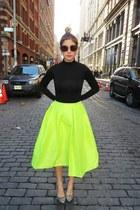 Choies skirt - heat tech Uniqlo shirt - Miu Miu sunglasses - Guess watch