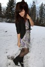 Urban-outfitters-dress-urban-outfitters-blazer-h-m-tights