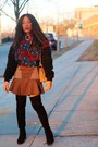 Stuart-weitzman-boots-stella-mccartney-dress-kenzo-jacket-la-perla-tights