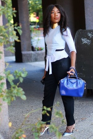Barbara Bui top - Zara shirt - Givenchy bag - Tommy Hilfiger pants - dior pumps