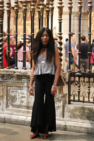Zara blouse - Gucci bag - coach flats - Zara pants - Paula Mendoza bracelet