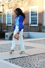 Gold-charlotte-olympia-shoes-blue-club-monaco-blazer-sky-blue-jcrew-shirt