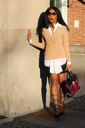 Marissa Webb skirt - Steve Madden shoes - Asilio blazer - 31 Phillip Lim shirt