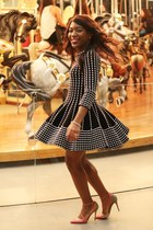 black H&M dress - deep purple Olympia Le-Tan purse - bubble gum Jimmy Choo pumps