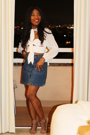 alice mccall blouse - Vince Camuto sandals - Zara skirt