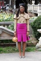 Eugenia Kim hat - Burberry jacket - Valentino sunglasses - Dolce & Gabbana pumps