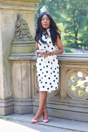 ann taylor dress - Eugenia Kim hat - Olympia Le-Tan purse - Chanel accessories