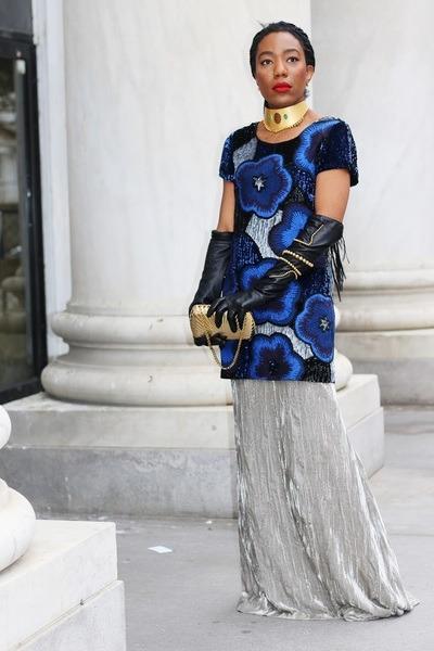Oscar de la Renta skirt - Sergio Rossi boots - French Connection dress