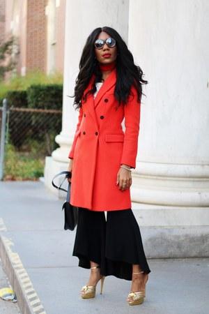 Zara coat - Charlotte Olympia shoes - JCrew dress - Zara pants