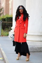 Zara coat - Charlotte Olympia shoes - JCrew dress - Zara pants