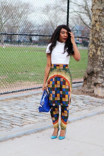 Givenchy bag - Midget Giraffe pants - Asilio top - Prada pumps
