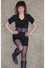 Black-suzy-sheir-shirt-purple-drop-dead-darlings-belt-black-suzy-sheir-short