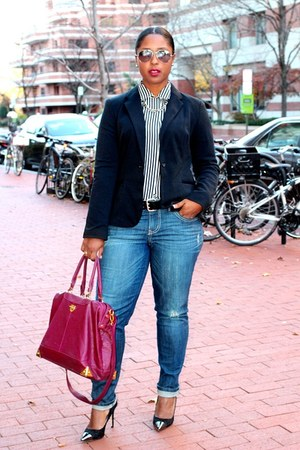 George blazer - Jolt Jeans jeans - Shoedazzle heels - tiffanys earrings