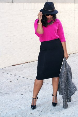 asos skirt - Gap sweater - Steve Madden heels
