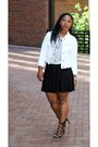 White-denim-sears-jacket-hm-skirt-american-apparel-t-shirt