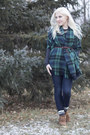 Forest-green-plaid-charming-charlie-scarf
