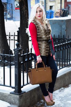 light brown leather Michael Kors bag
