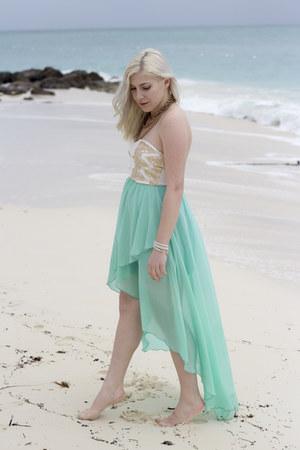 aquamarine vintage dress