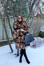 Black-stuart-weitzman-boots-brown-jacket-black-balenciaga-bag