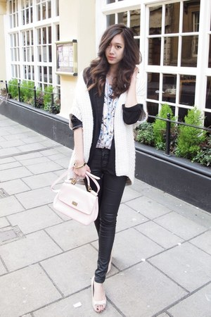 black boyfriend Forever21 blazer - light pink miss sicily Dolce &amp; Gabbana bag