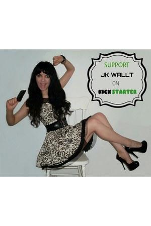 Jennifer Kaya wallet - Forever 21 dress - Aldo heels - H&M watch