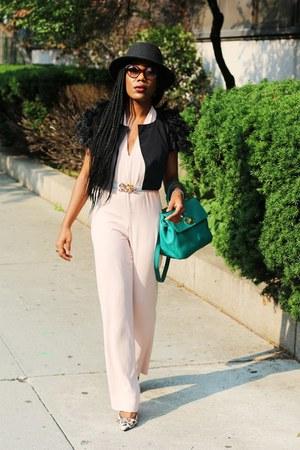 bubble gum Dolce & Gabbana shoes - dark gray wool fedora Perry Ellis hat