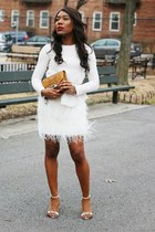 white feather Club Monaco skirt - white PROENZA SCHOULER shoes