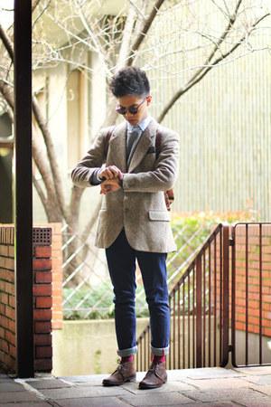 Bershka jeans - Sisley sweater - spotted Valentino blazer - Zara shirt