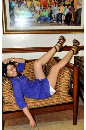 Mango shorts - Charles & Keith heels - Terranova top - Anne Klein watch
