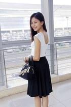 white cropped Sabellissima blouse - black midi Sabellissima skirt