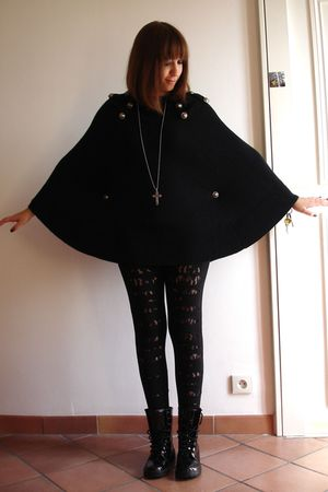 black best mountain jumper - black pieces leggings - black Mango shoes