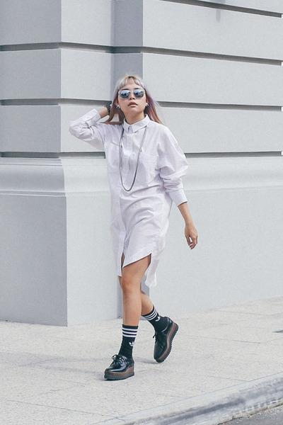 Jord Wood Watches watch - H&M dress - Adidas socks - Charles & Keith wedges