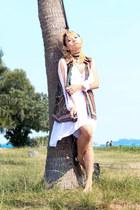 vintage vest - Princessa dress - Luxola accessories