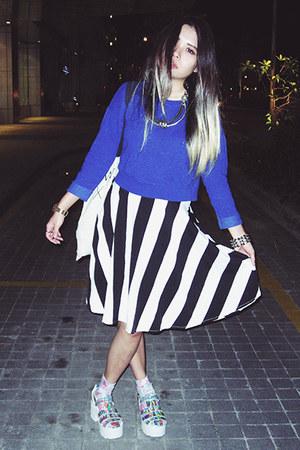 vintage skirt - Topshop bag - Topshop socks - Topshop top
