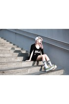 Adidas socks - TUK wedges - Whiteco top