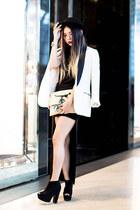Forever 21 blazer - Forever 21 hat - new look heels