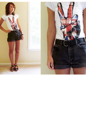 the who asos shirt - black high waisted vintage calvin klein shorts