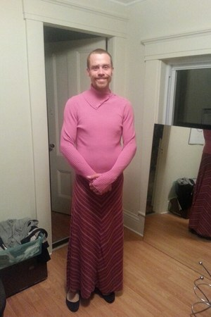 pink Target stockings - bubble gum Gap sweater - pink Target skirt
