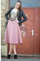 vintage bag - cut out Topshop shoes - pink vintage skirt