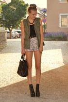 c&a vest - litas Jeffrey Campbell shoes - animal print H&M shorts