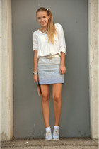 ombre Esprit skirt - creepers New Yorker shoes - white c&a shirt