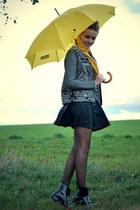 H&M jacket - vintage bag - leather TK Maxx skirt