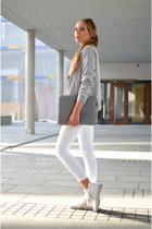 blouson fashion5 jacket - silver casio watch - white hm pants