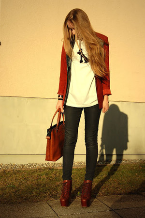 poodle vintage shirt - litas Jeffrey Campbell shoes - vintage bag