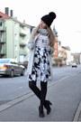 Grey-zara-coat-striped-c-a-shirt-floral-yesforco-skirt