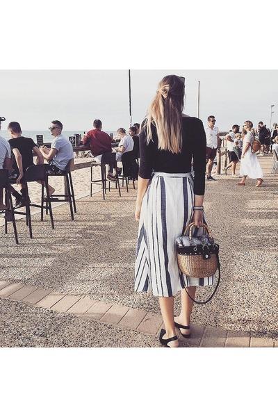 basket vintage bag - midi F&F skirt