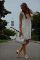 lace tramontana dress - vintage bag - Primark sandals