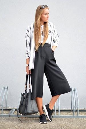 culotte F&F pants - kimono H&M blazer - paris fashion5 shirt